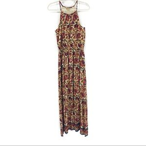 NEW Lucky Brand  Floral Boho Paisley Maxi Dress M